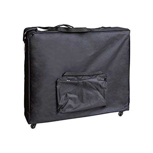 "Artechworks Wheeled Massage Table Carrying Case, Bag with Wheels for Table up to 28"" Wide and 73"" long, Black"