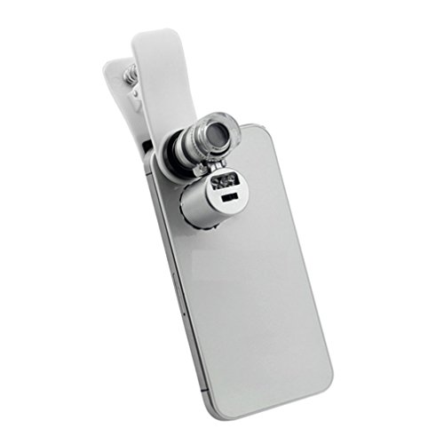 Pocket Microscope With Led Light And Pouch