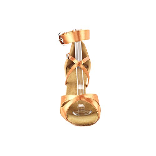 """Gold Taube Schuhe 50 Shades Of Tan Tanzschuhe, Komfort Abendkleid Hochzeit Pumps: Ballroom Schuhe für Latein, Tango, Salsa, Swing, Kunst von Party Party (2,5 """"& 3"""" Heels) 7002- Tan Satin"""