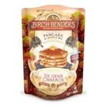 Birch Benders Organic Six Grain Cinnamon Pancake and Waffle Mix, 16 Ounce - 6 per case.