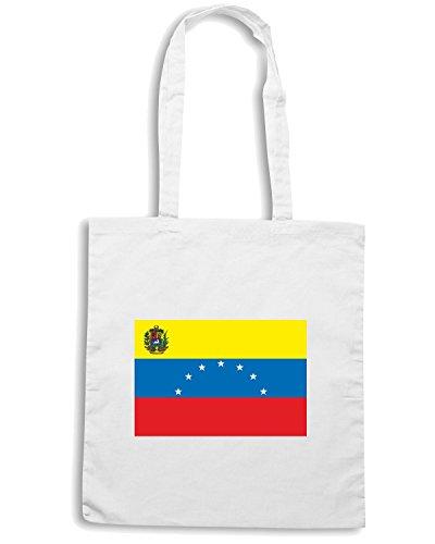 T-Shirtshock - Bolsa para la compra TM0264 Venezuela flag Blanco