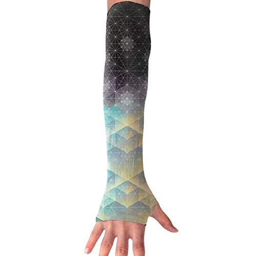 Haoshun WY Diamond Bright Light Unisex UV Protection Arm Cute Ice Silk Glove Protection Arm Sunscreen Cuff Guard Arm,Arm Sleeve Temporary Tattoos (1 Pair) -
