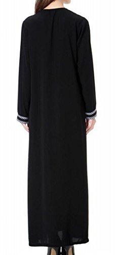 Abaya Grey Dress Women Islamic Muslim Dubai Domple Sleeve Long Kaftan 80S0Ynz