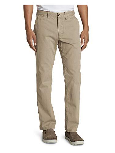 Eddie Bauer Men's Legend Wash Chino Pants - Classic Fit, Lt Khaki Regular 35/30 (Classic Fit Chino Pants)