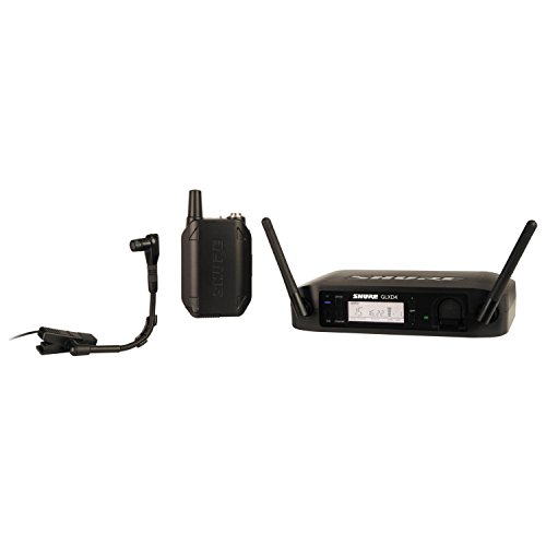 Shure GLXD14/B98 Instrument Wireless System with GLXD4 Wireless Receiver, GLXD1 Bodypack Transmitter, WB98H/C Microphone and Carrying Case