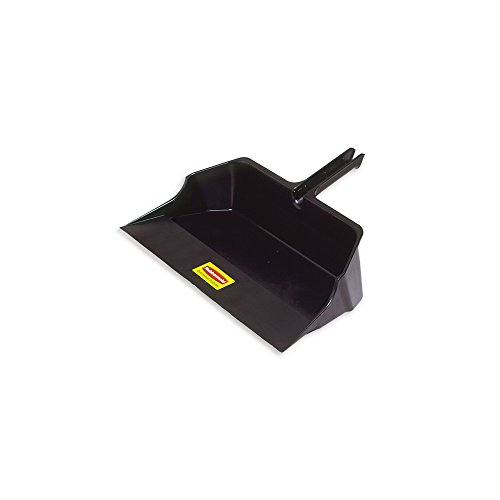 Rubbermaid Commercial Products FG9B6000BLA Jumbo Dust Pan, 18'' Head Width, Black (Pack of 6) by Rubbermaid Commercial Products