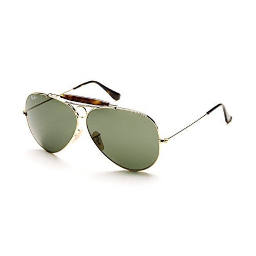 Ray Ban RB3138 181 62 Gold/Dark Green Shooter Sunglasses Bundle - 2 - Rb3138 Ray Ban