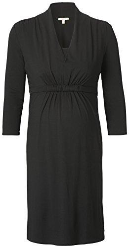 Esprit Maternity H84274, Vestido, Mujer Negro (Black 001)