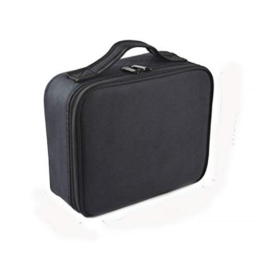 F.S.M. New Outdoor Travel Double Layer Cosmetic Makeup Bag Waterproof Storage Box Handbag Organizer - Black by F.S.M.