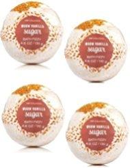 Bath and Body Works 4 Pack Warm Vanilla Sugar Bath Fizzy 4.6 Oz. (Soak Sugar Bath)