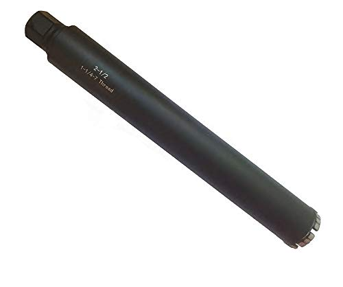 2-1/2 Inch Diamond Wet Core Drill Bit for Concrete, Brick, Masonry,and Block with 1-1/4″-7 Threaded