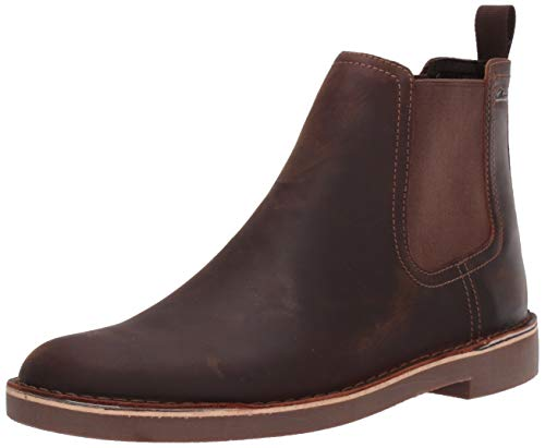 (CLARKS Men's Bushacre Hill Chelsea Boot, Dark Brown Leather, 110 M US)