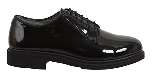 Commando Uniform - Rothco Uniform Oxford/Hi-Gloss Shoe, Black, 3