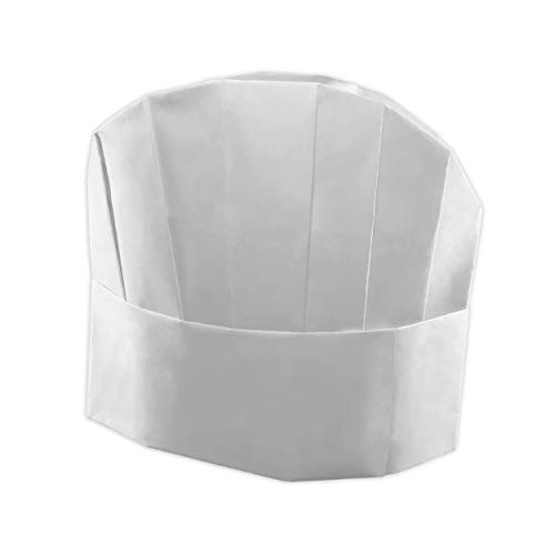 Berkshire Kitchens Chef Hats - 25 Disposable Chefs Hats. Adjustable White Paper Chef Hat - Includes Free Recipe E-Book! for Adults and Kids. Perfect for Cooking Parties -