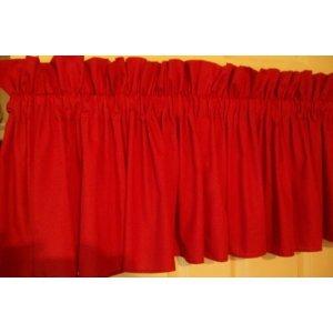Superbe RED VALANCE 84u0026quot; Wide X 15u0026quot; Long 2u0026quot; ...