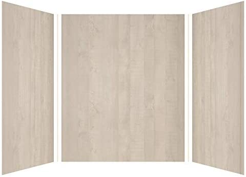 Transolid EWK606072-45 Expressions 3-Panel Shower Wall Kit, 60-in L x 60-in W x 72-in H, Bleached Oak