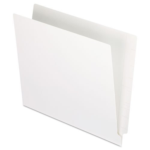 Pendaflexamp;reg; Reinforced Two-Ply Folders, Straight Cut, End Tab, Letter, White, 100/Box by Esselte