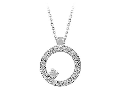 Birgie Diamants et Bijoux - Pendentif Diamants-Femme- or Blanc 201P0077