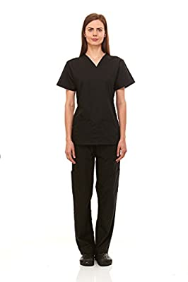 Denice Womens Medical Uniforms Infinity V Neck Utility Nurses Scrub Set 1098