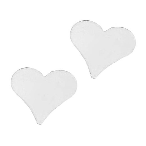 Beadaholique Sterling Silver Blank Stampings No Hole Heart 10mm ()