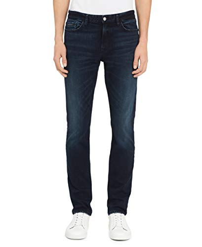 Calvin Klein Men's Skinny Fit Jeans, Boston Blue/Black, 31W x 32L ()