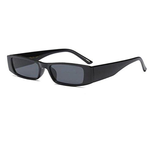 Escoger Retro Moda Gris Mujer Gafas Color Gafas Estilo C4 Negro Marco para 6 de de Pequeña primavera Bisagra Fiesta sol UV400 Rectángulo Lente Deylaying fqSRqw