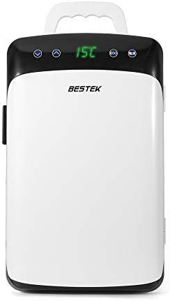 [スポンサー プロダクト]BESTEK 冷温庫 車載 家庭 両用 ミニ冷蔵庫 として使用可能 タッチパネル式 DC AC 2電源式 保冷 保温 小型でポータブル 静音設計 10L ホワイト BTCR10-JP