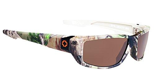 Spy Optic Men's Dirty MO 670937158885 Polarized Rectangular Sunglasses, Spy Real Tree Happy Bronze Polar, 59 - Spy Sunglasses Real