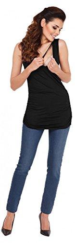 Zeta Ville - Mujeres Maternidad Enfermería Envolver Frente Camiseta M-3xl - 371c Negro