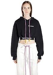 Palm Angels Women S Pwbb012r194410011001 Black Cotton Sweatshirt