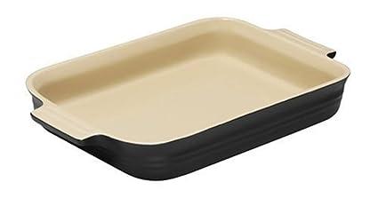 Le Creuset - Fuente rectangular de gres, 32 cm,color negro