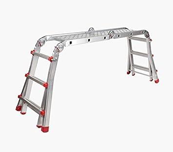 Escalera Andamio Bancada Telescópica Multiuso en Aluminio. Hecho en Europa. EN131 Capacidad Max. 150 kg: Amazon.es: Bricolaje y herramientas