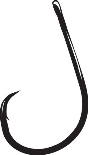 Gamakatsu Straight Eye Inline Octopus Circle Hook-Pack Of 25 (Black, 4/0) ()
