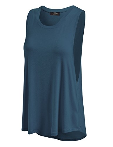Made By Johnny WT902 Womens Basic Loose Fit Tank Top XL Teal ()