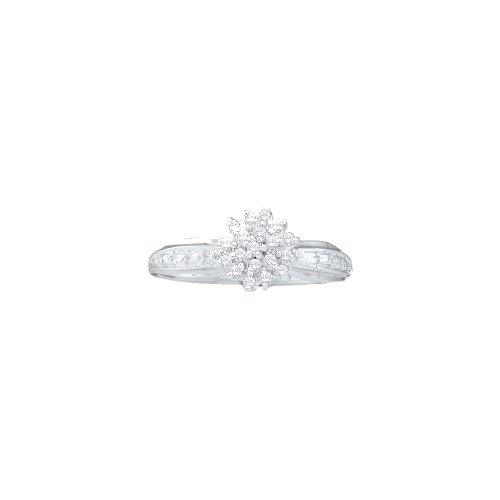 1/10 Total Carat Weight DIAMOND CLUSTER RING by Jawa Fashion