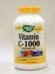 Nature'S Way Vit C 1000 W/Rose Hips 250 Cap