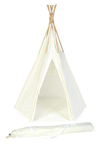 7-Giant-New-Zealand-Wood-Teepee-with-Carry-Case-By-Trademark-Innovations-White