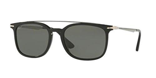 Persol  Men's 0PO3173S Black/Gunmetal/Green Polarized - Sunglasses Keyhole Persol