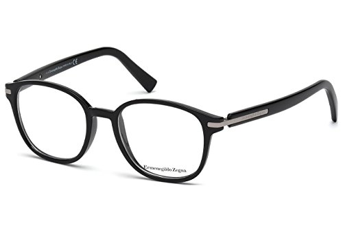 Glasses Ermenegildo Zegna - ERMENEGILDO ZEGNA Eyeglasses EZ5004 001 Shiny Black 49MM