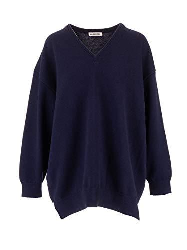 Balenciaga Luxury Fashion Womens 583135T40924140 Blue Sweater | Fall Winter 19
