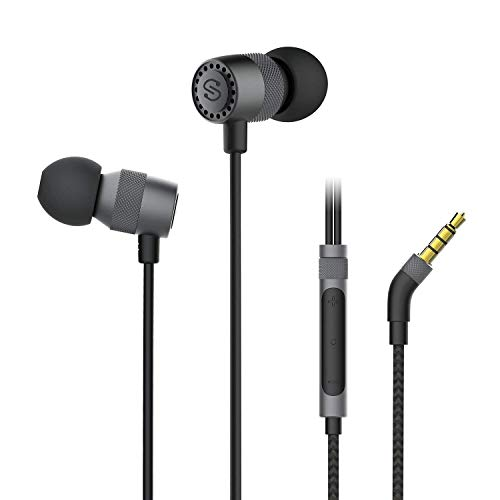 SoundPEATS Hi-Res Wired Gaming Earphones with Hybrid Dual Drivers, Super Audio with Noise Cancelling Stereo Bass, Lightweight Earbuds with Mic for in-Ear Earphones Sports (3.5mm Audio Jack)
