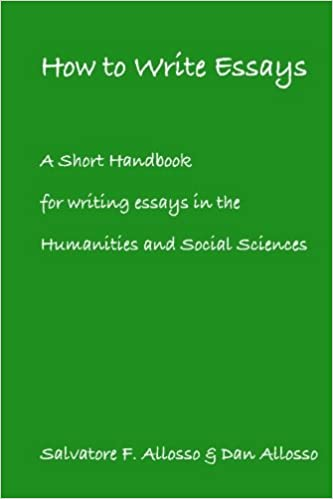 Essay Proposal Sample A Short Handbook For Writing Essays In The Humanities And Social Sciences  Dan Allosso Salvatore F Allosso  Amazoncom Books Thesis Statement Generator For Compare And Contrast Essay also Essay On High School Experience A Short Handbook For Writing Essays In The Humanities And Social  Sample High School Admission Essays