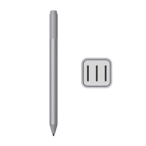 2020 Microsoft Surface Pen for Surface Pro 7 Pro 6 Surface Laptop 3 Surface Book 2 Laptop 2 Surface Go Studio 2 4096 Pressure Points Rubber Eraser Bluetooth Platinum w/3 Extra Surface Pen Tips HB