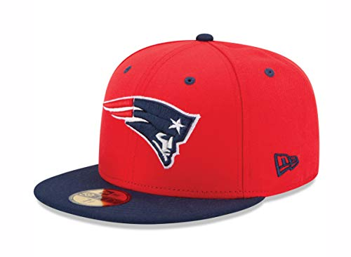 NFL New England Patriots Two Tone 59Fifty Fitted Cap, Red/Blue, 7 3/4