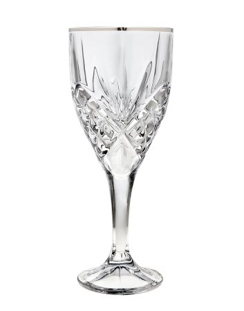 Platinum Goblet (Godinger Dublin Platinum Crystal 9-ounce Goblets (Set of 4))