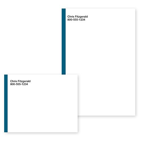 Blue Border Personalized Post-it Notes - 4