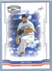 Eric Gagne Los Angeles Dodgers (Baseball Card) 2005 Donruss Throwback Threads #80