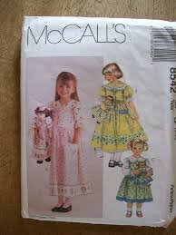 8542 McCalls Sewing Pattern UNCUT Girls Jumper Blouse Petticoat + Matching Clothes for 18