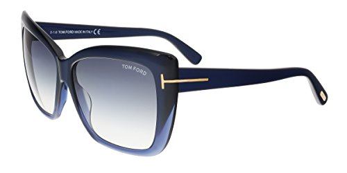 Tom Ford Womens Irina Oversized Gradiant Square Sunglasses Blue - Ford Sunglasses Square Tom