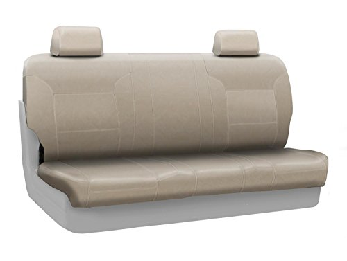 - Coverking Rear Solid Bench Custom Fit Seat Cover for Select RAM Pickup Models - Genuine Leather (Beige)